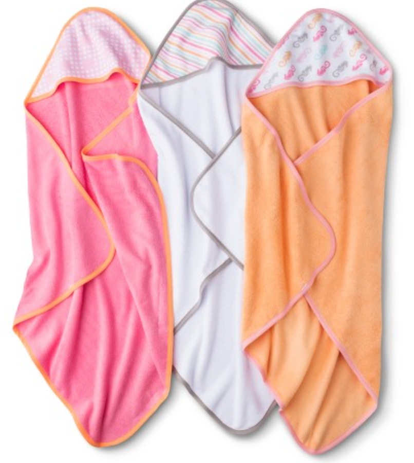 3 pack baby bath towels