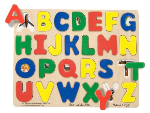 wooden ABC alphabet puzzle